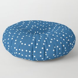 Geometric dots on classic blue Floor Pillow