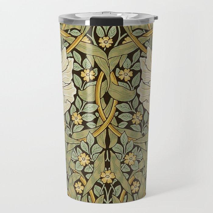 William Morris Pimpernel Art Nouveau Floral Pattern Travel Mug