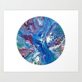 Fluid Art Blue Art Print