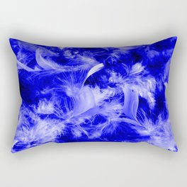 Colorful Feathers,blue Rectangular Pillow