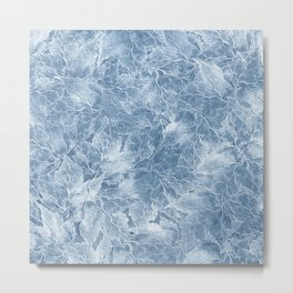 Frozen Leaves 7 Metal Print