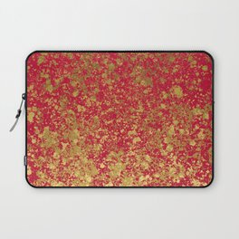 Red and Gold Patina Design Laptop Sleeve