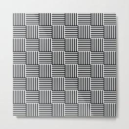 op art - cross hatch Metal Print