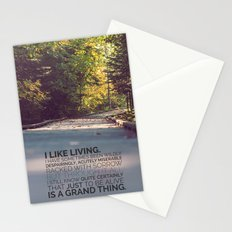 I like living - agatha christie Stationery Cards