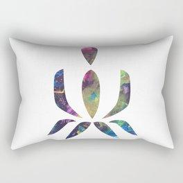 Lotus Meditation Rectangular Pillow