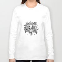 transparent Long Sleeve T-shirts featuring Transparent Temper by Emma LaPine