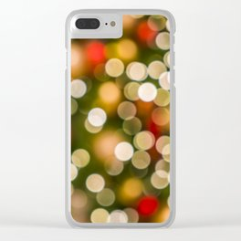 Colorful christmas lights in the background like pearls Clear iPhone Case