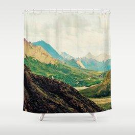 Denali Mountains Shower Curtain