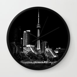 CN Tower From Bathurst Quay Toronto Canada Wall Clock