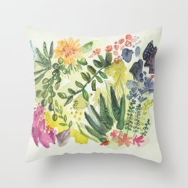 Florals and Corals Throw Pillow