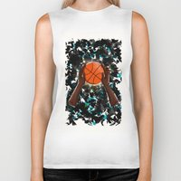 basketball Biker Tanks featuring  BasketBall  by Marven RELOADED
