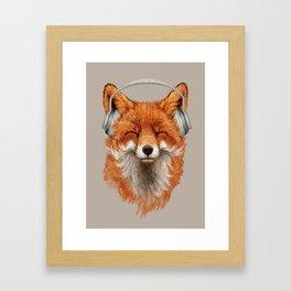 Smiling Fox Framed Art Print