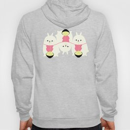 Fat bunny eating noodles pattern Hoody