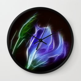 Lisianthus Wall Clock
