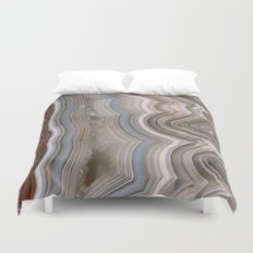 Striped Agate Crystal Duvet Cover