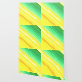 Thunder bolts pattern green yellow Wallpaper