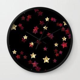 The night sky. Stars Wall Clock
