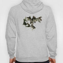 Fish Black Moor Black aquarium fish design fish home decor feng shui Hoody