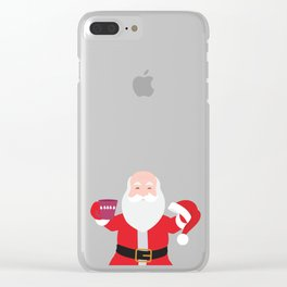 Have a A delightful cup of Christmas with Santa Claus Clear iPhone Case