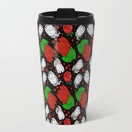 Protea Pattern - Australian Native Floral Pattern Travel Mug