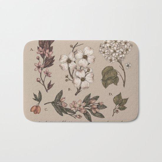 Flowering Spring Trees Bath Mat