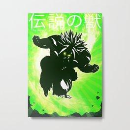 Broly Movie Poster - DBZ Fan Art Metal Print