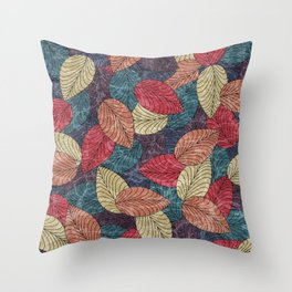 Let the Leaves Fall #03 Throw Pillow