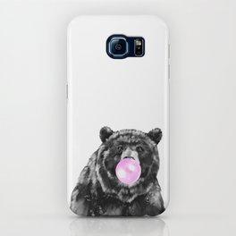 Bubble Gum Big Bear Black and White iPhone Case