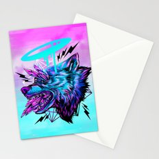 Crystal Wolf Stationery Cards