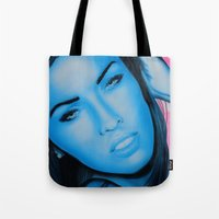 megan lara Tote Bags featuring Megan by Lucky art
