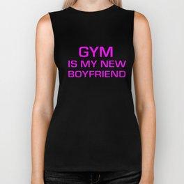 Gym Is My New Boyfriend Women Racerback Tank Top Crossfit Train Yoga Gym T-Shirts Biker Tank
