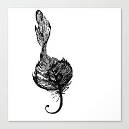 Treble Feather Canvas Print