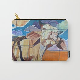 The Girl Next Door Cow Portrait Carry-All Pouch