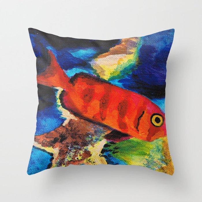 Fish 5 Series 1 Throw Pillow
