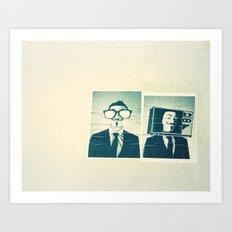 Split personality Art Print