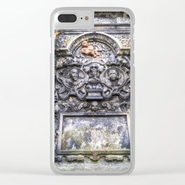 Ancient Grave Stone Greyfriars Kirk Graveyard Clear iPhone Case