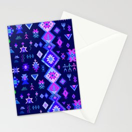 KILIM NO. 6 IN ELECTRIC ORCHID Stationery Cards