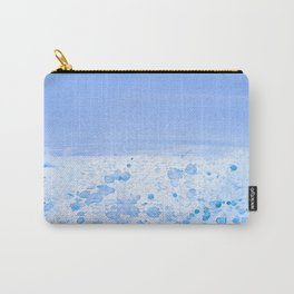 Rain Drop Blue Carry-All Pouch