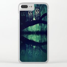 owl-93 Clear iPhone Case