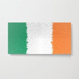 Extruded flag of Ireland Metal Print