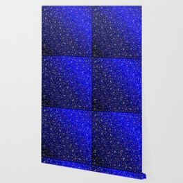 silver,gold,metall music notes in blue Wallpaper