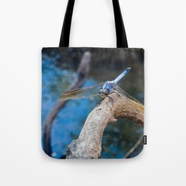 Dragonfly in blue Tote Bag