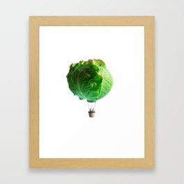 Iceberg attack Framed Art Print