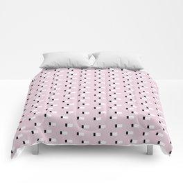 Minimal Squares - Dusty Rose Comforters