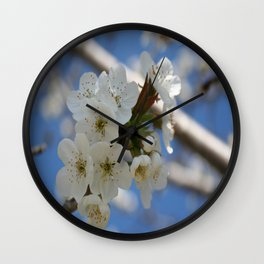 Beautiful Delicate Cherry Blossom Flowers Wall Clock