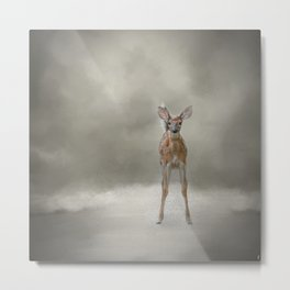 Stand Strong Little Fawn - Deer - Wildlife Metal Print