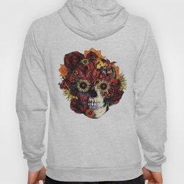 Full circle...Floral ohm skull Hoody