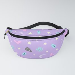 Pastel Goth Occult Pattern Fanny Pack