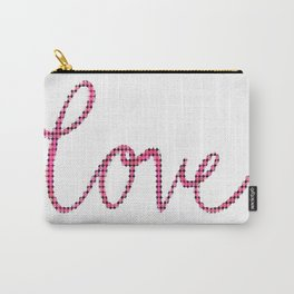 Love Script Checkers Carry-All Pouch