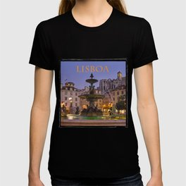 Rossio fountain, Lisbon T-shirt